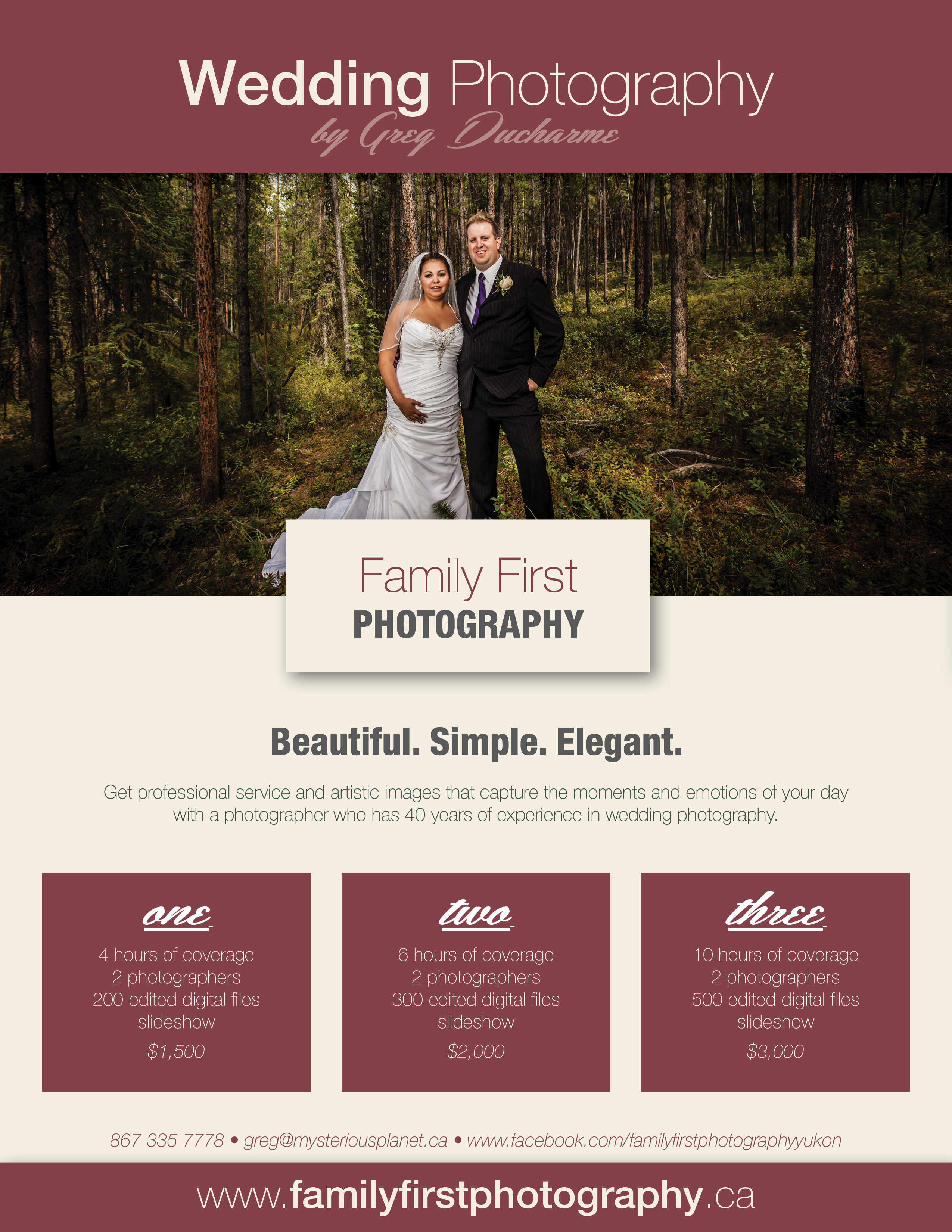 Wedding Photography Packages.Yukon Wedding Packages Family First Photography Whitehorse